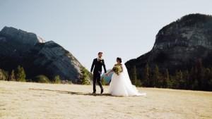 Karen & Leroy Wedding Banff Tunnel Mountain Wedding Videographer Videography
