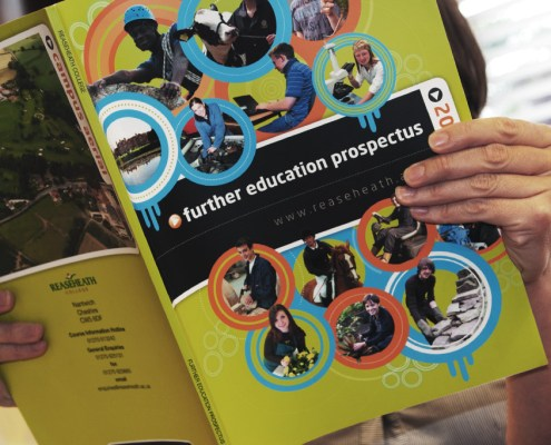 Reaseheath College Prospectus Design Red Fred Creative