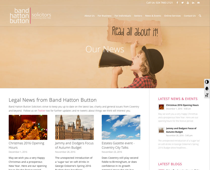 Band Hatton Button Solicitors Website Design Red Fred Creative