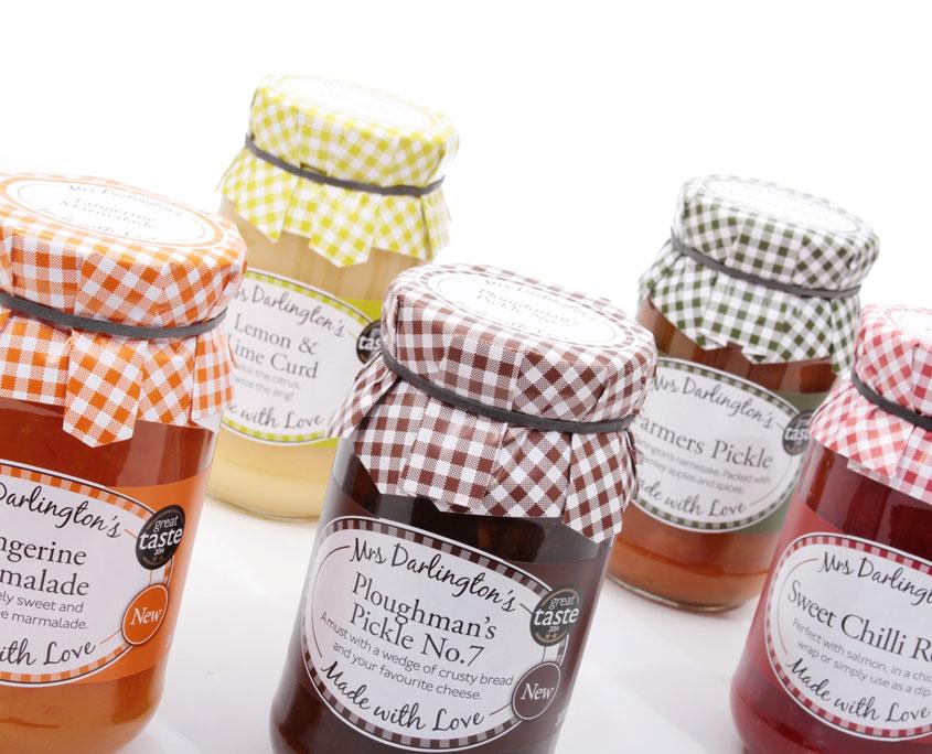 Mrs Darlingtons Jar Label Design Red Fred Creative