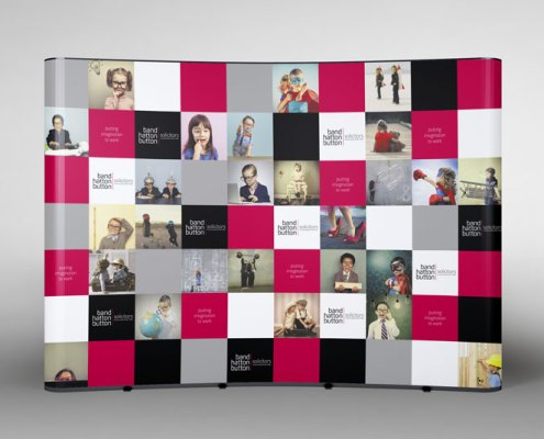Pop-up Exhibition Stand Design Red Fred Creative