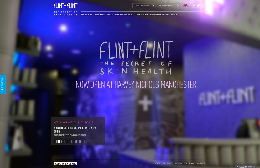 Flint + Flint E-Shopify Site