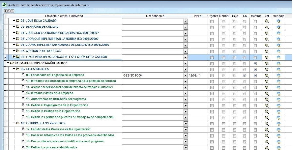Planificacion ISO 9001