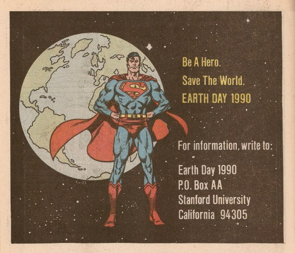 earth day 1990 superman stanford