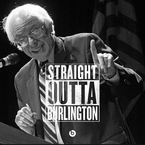 Bernie Sanders Straight Outta Burlington from RedGREENandBlue.org