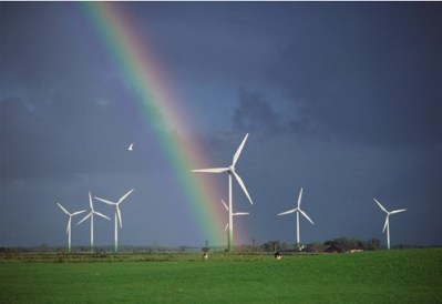 wind power rainbow