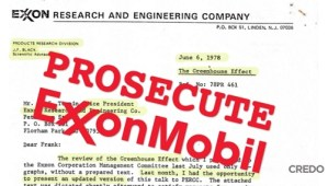 exxon knew about climate change credo