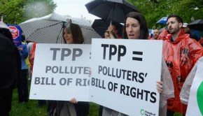 Bernie Sanders calls the Trans-Pacific Partnership a polluters bill of rights