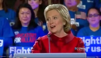 Hillary Clinton Victory speech nevada