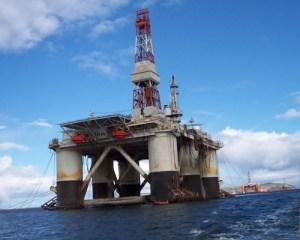 offshore oil rig by steven stralton