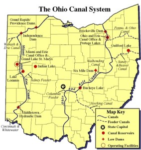 ohio canal system - great for bike paths!
