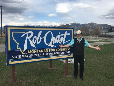 Rob Quist runs in the Montana special election for congress May 15