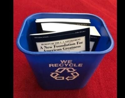 Senator Ron Wyden recycles Trump's devastating budget plan