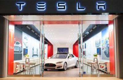Tesla automotive sales showroom