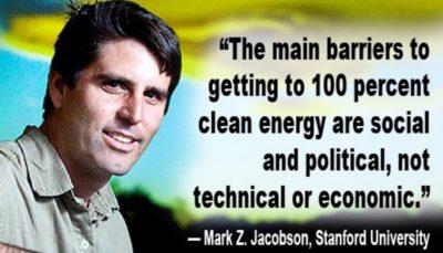 mark jacobson 100 percent renewable energy