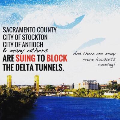 delta tunnels lawsuit restore the delta waterfix