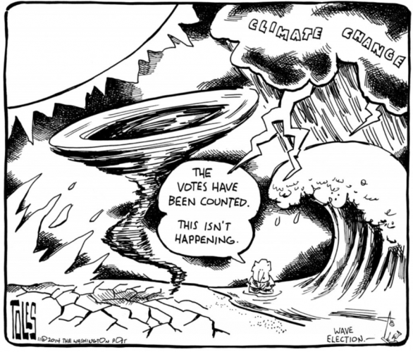 Tom Toles - climate denial election