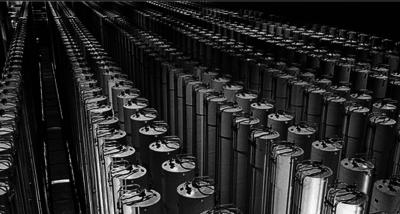 Uranium-concentrating centrifuges at Natanz, Iran. IRNA photo
