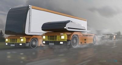 autonomous trucks design for Logan. By Nick Pugh for 20th Century Fox.