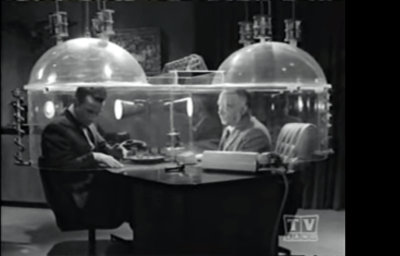 """Cone of silence"" from TV show Get Smart"