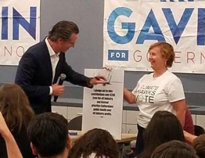 Gavin Newsom signs Oil Money Out pledge