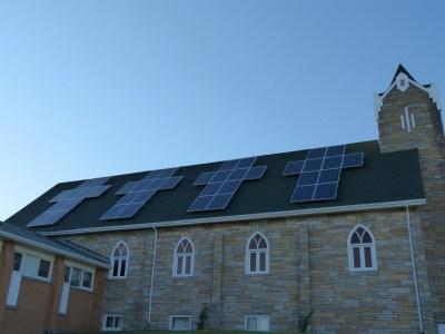 solar church roof by solar tribune