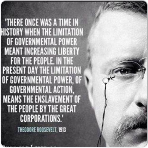 Teddy Roosevelt - smart regulation vs robber barons