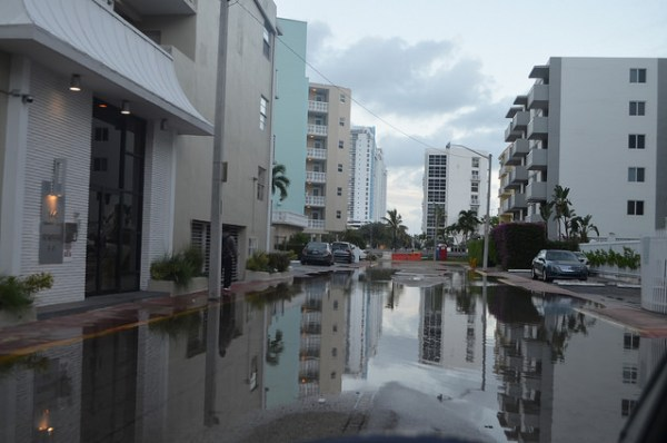 Daily tidal flooding in South Beach, Miami