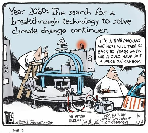 tom toles: stop climate change with a time machine