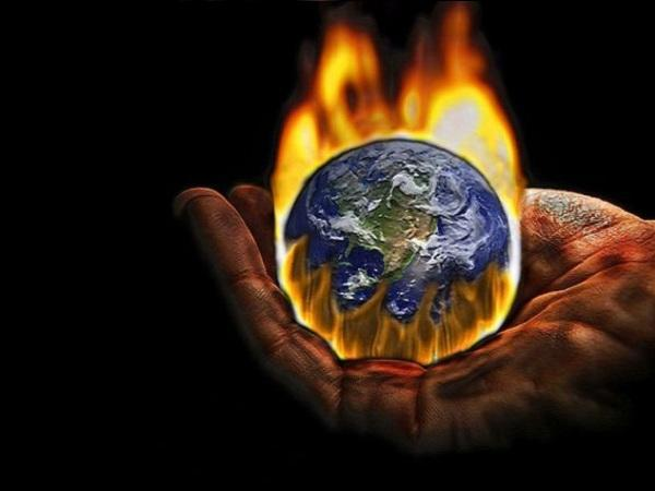 climate change world on fire