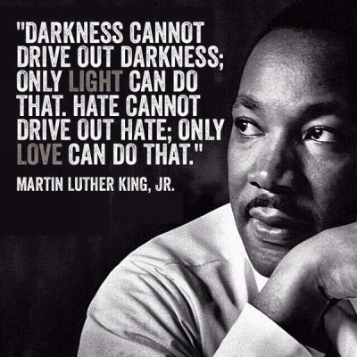 Martin Luther King love cannot drive out darkness