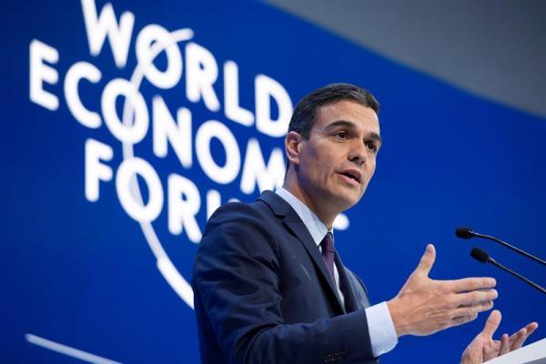 Spains PM Pedro Sanchez promotes Green New Deal at Davos
