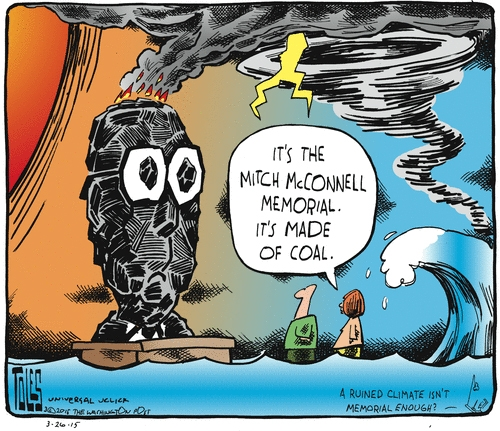 Tom Toles Mitch McConnell made of coal