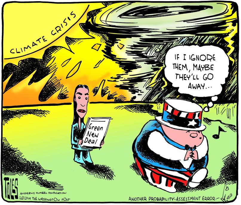 Tom Toles Editorial Cartoon Tt C C190210 Tif Red Green And Blue
