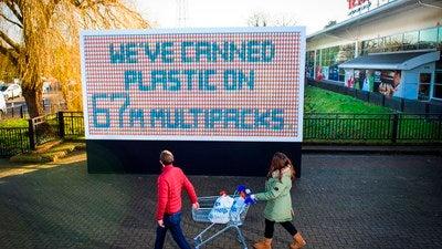 tesco supermarket reduces single use plastics