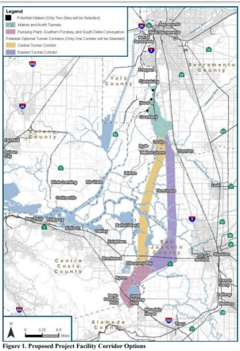 Delta Tunnel proposed route California Waterfix