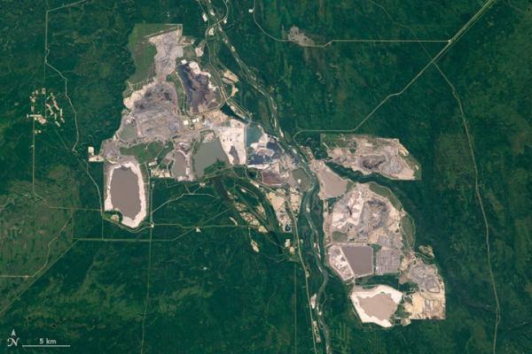 Alberta tar sands from space. Image credit: NASA