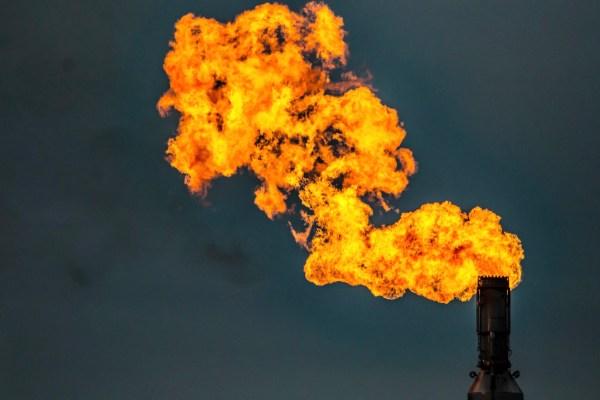 natural gas flare australia