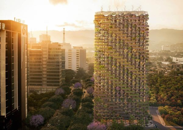 Rainbow Tree Residential Tower, green building