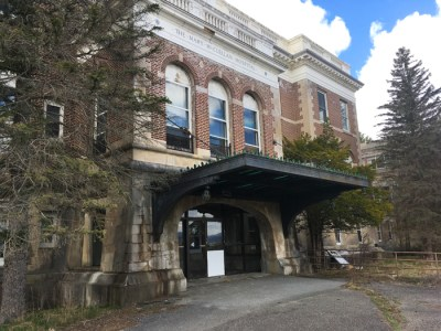The ruins of Mary McClellan Hospital, Cambridge, New York,