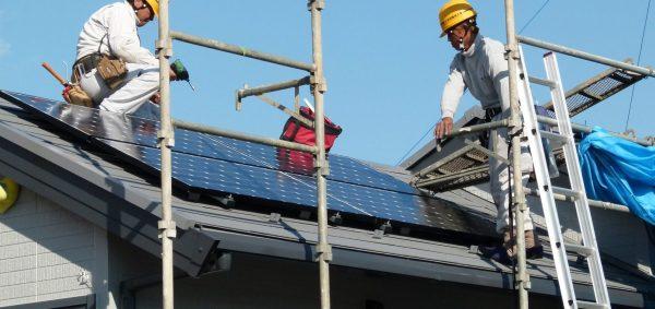 Rooftop solar construction