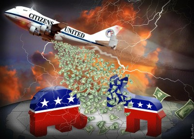 citizens united -corporate money bombs the US elections
