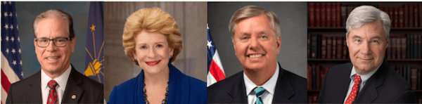 Sen. Mike Braun (R-IN), Sen. Debbie Stabenow (D-MI), Sen. Lindsey Graham (R-SC), Sen. Sheldon Whitehouse (D-RI)