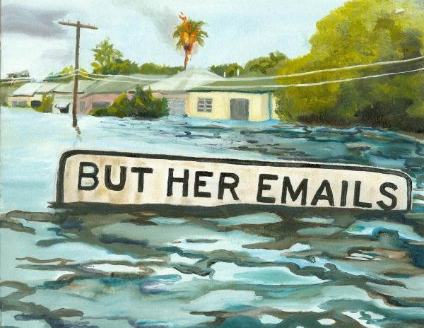 But her emails!