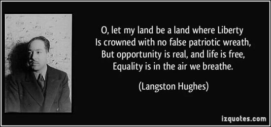 Langston Hughes was a great man and a great poet. In particular he is the perfect antidote for MAGAism.
