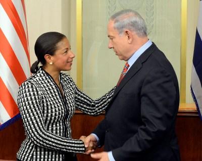 Susan Rice meets with Benjamin Netanyahu