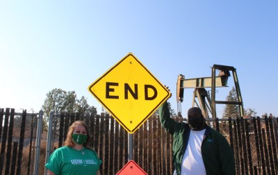 END oil drilling in California residential neighborhoods (Photo courtesy of the United Domestic Workers of America)