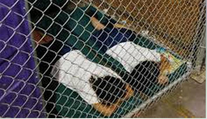 """Niños """"enjaulados"""" en frontera México-EEUU tras ser separados de sus padres"""