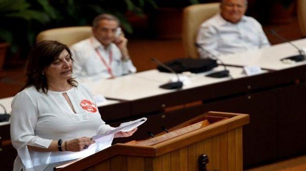 La secretaria ejecutiva del Foro de Sao Paulo, Mónica Valente, leyó las conclusiones finales de los delegados e invitados.