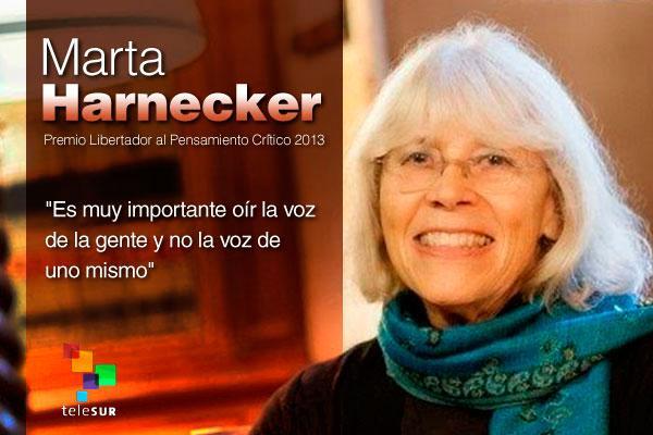 Marta Harnecker: una vida de luchas. Por Arleen Rodríguez Derivet